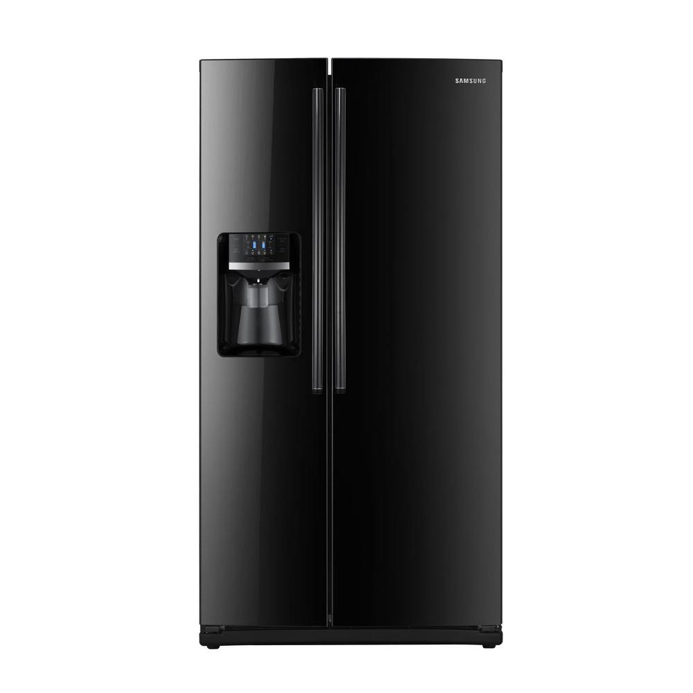Samsung 25.5 cu. ft. Side by Side Refrigerator in Black-DISCONTINUED