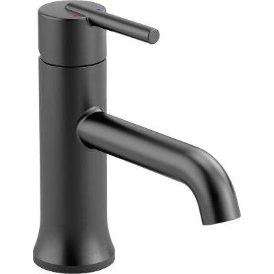 Trinsic Single Hole Single-Handle Bathroom Faucet in Matte Black
