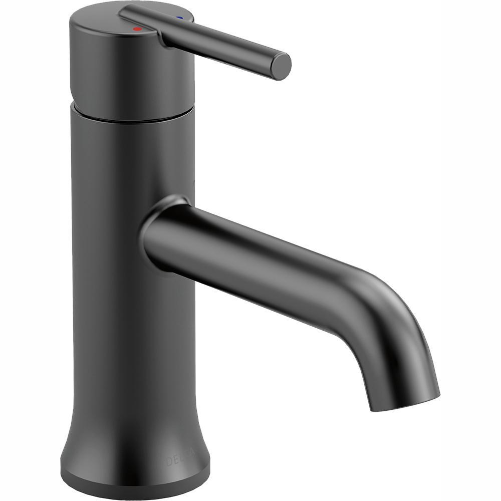 Delta Trinsic Single Hole Single Handle Bathroom Faucet in Matte