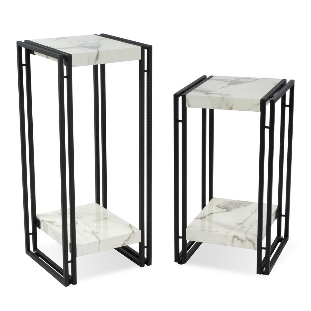 Urban Accents Furniture With Atlantic Urban Marble Accent Table Set Set82008067 The Home Depot