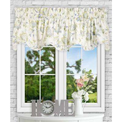 Abigail 17 in L Polyester/Cotton Lined Scallop Valance in Porcelain