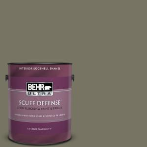 Behr Ultra 1 Gal Bxc 20 Amazon River Extra Durable Eggshell Enamel Interior Paint And Primer In One 275301 The Home Depot