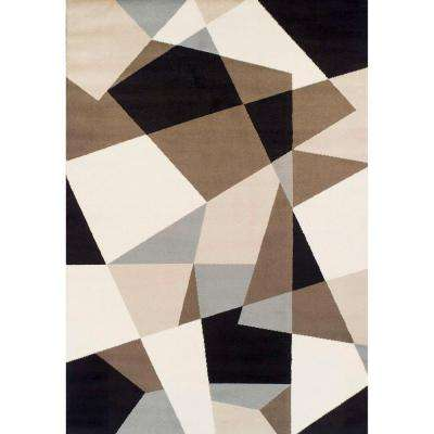 Ferrera Collection Geometric Multi 5 ft. x 8 ft. Area Rug