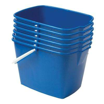 15 Qt. Heavy Duty Rectangular Utility Mop Bucket (6-Pack)