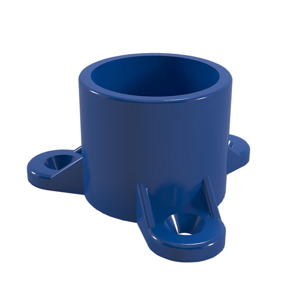 3/4 in. Furniture Grade PVC Table Screw Cap in Blue (10-Pack)