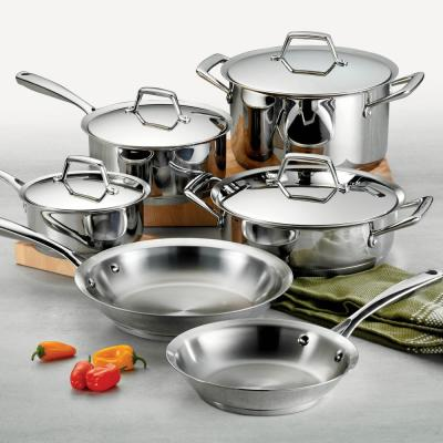 Gourmet Prima 10-Piece Stainless Steel Cookware Set