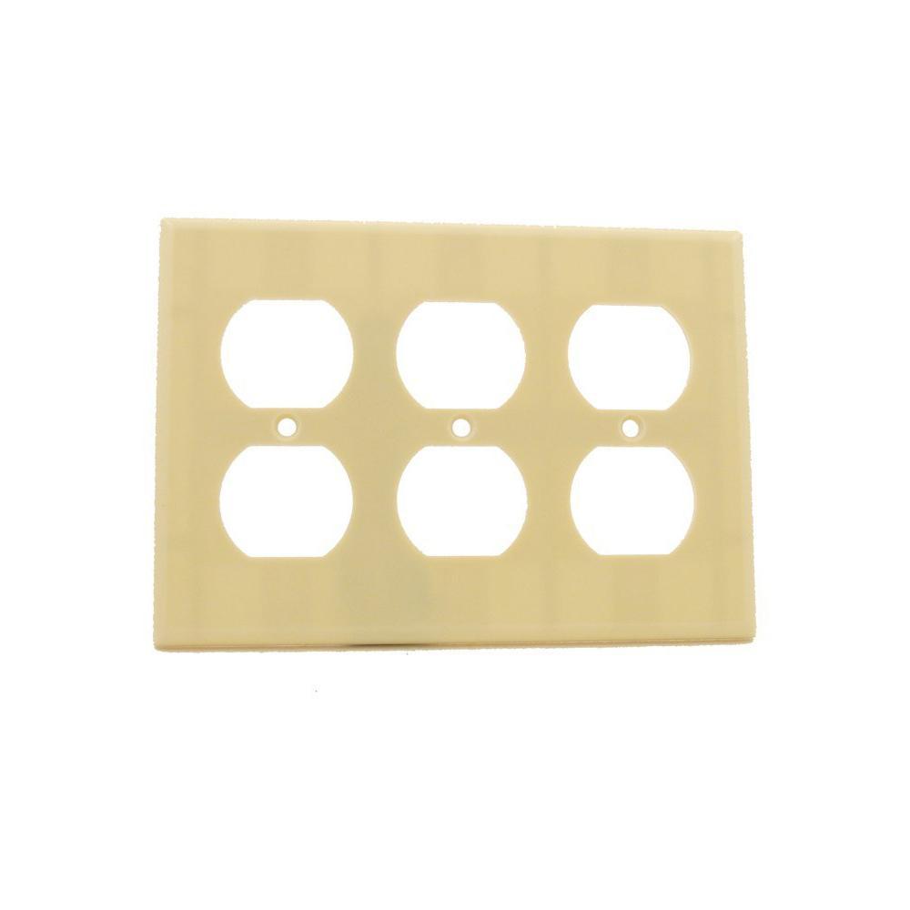 Eaton 2 Switch Decorator Duplex Nylon Wall Plate, Ivory-PJS262V-L ...