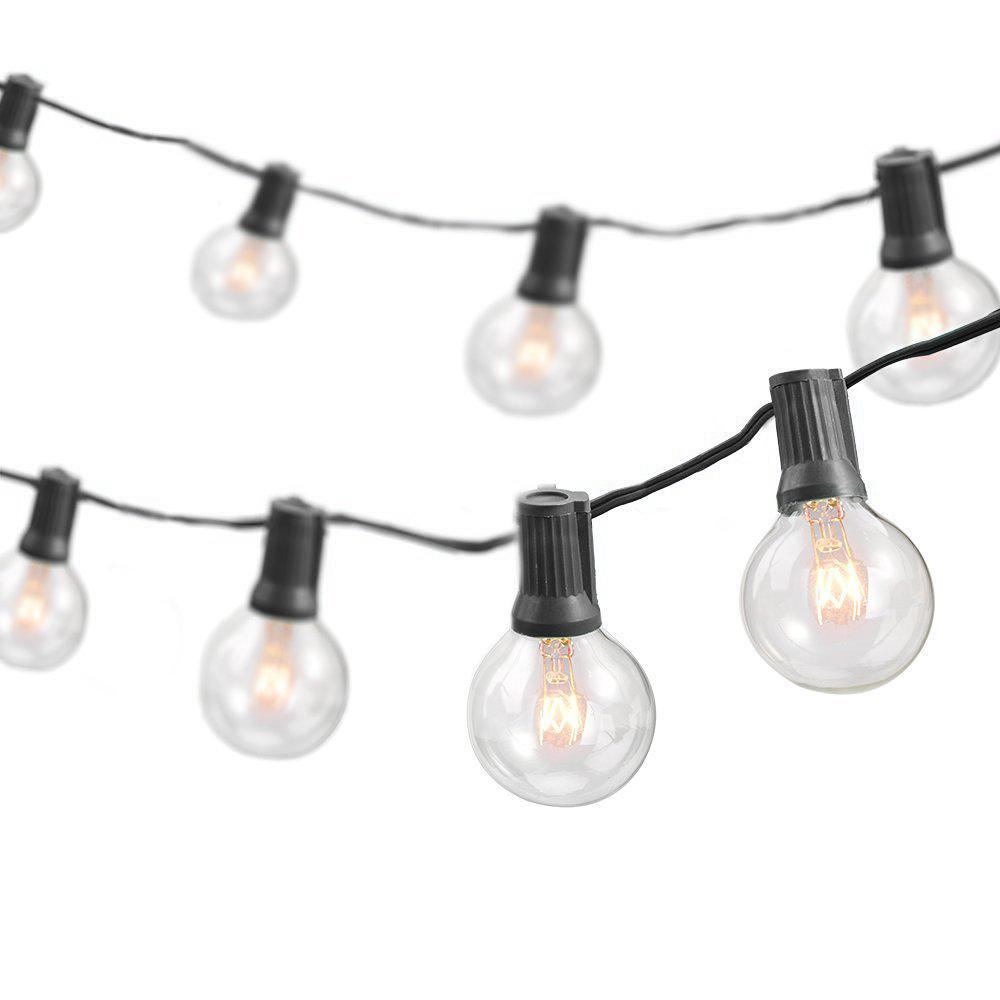 Indoor Outdoor Weatherproof Party String Lights With 25 Sockets Light Bulbs Included