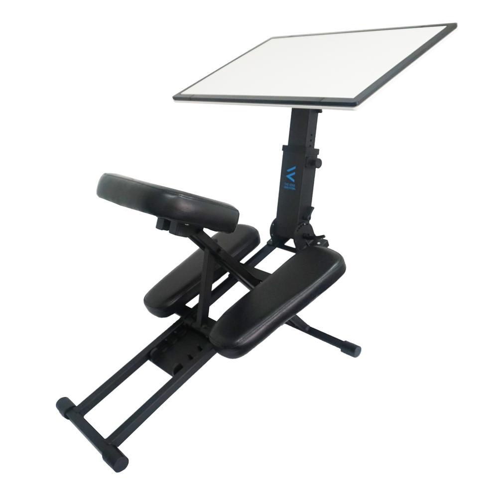 The Edge Desk Ergonomic Black Portable Adjustable Kneeling Desk