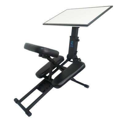 The Edge Desk Ergonomic Black Portable Adjustable Kneeling Desk