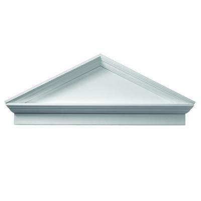 54 in. x 22 in. x 3-1/8 in. Polyurethane Combination Peaked Pediment with Bottom Trim