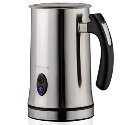 Electric Stainless Steel Milk Frother, Double-Wall Insulated, Frothing and Heating Whisks, 1-Cup for Coffee, Foam Maker
