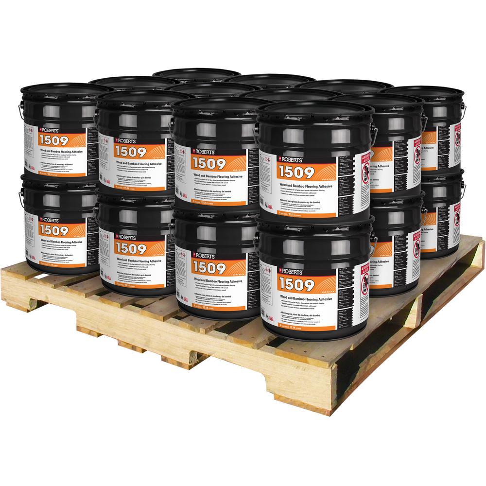 Roberts 4 Gal. Wood and Bamboo Flooring Urethane Adhesive (24 Pail Pallet) by Roberts