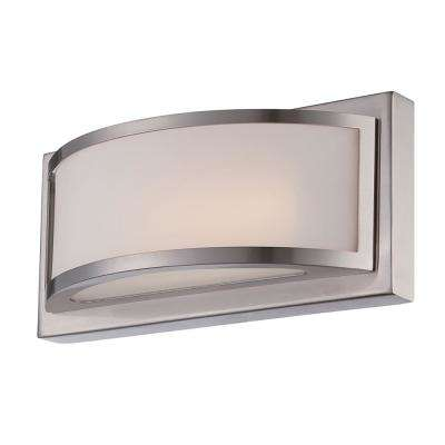 Duranna 10 in. Brushed Nickel Integrated LED Sconce