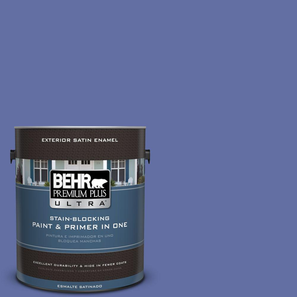 BEHR Premium Plus Ultra 1-gal. #610B-6 Stained Glass Satin Enamel Exterior Paint