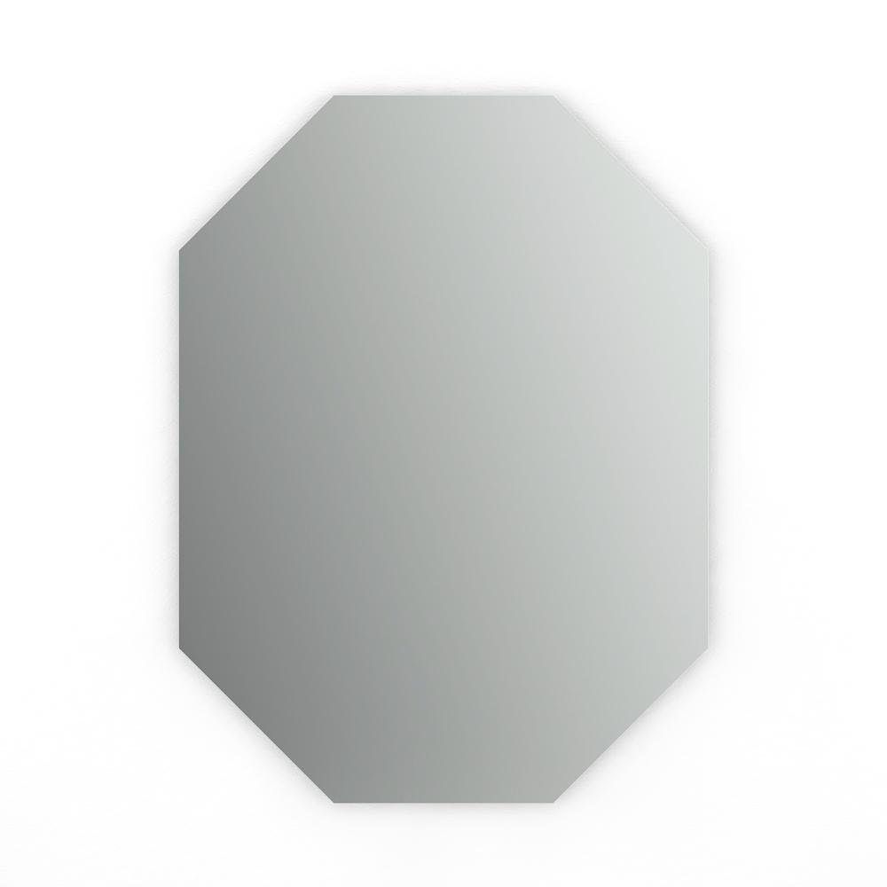 22 in. W x 30 in. H (M2) Frameless Octagon Standard Glass Bathroom Vanity Mirror