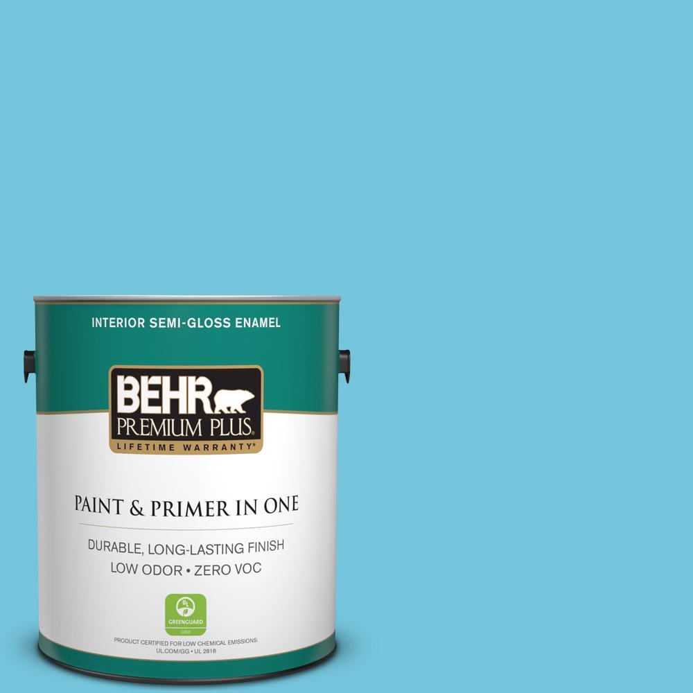 1-gal. #520B-4 Water Flow Zero VOC Semi-Gloss Enamel Interior Paint