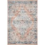 Piper Shaded Snowflakes Beige 5 ft. x 7 ft. Area Rug
