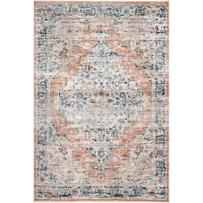 Piper Shaded Snowflakes Beige 7 ft. x 9 ft. Area Rug