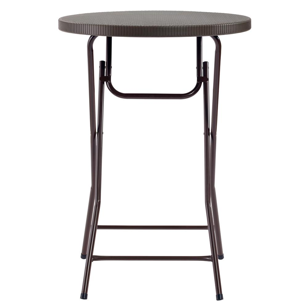 MuscleRack Muscle Rack Commercial Heavy Duty 2.5 ft. Brown Round Folding Cocktail Table