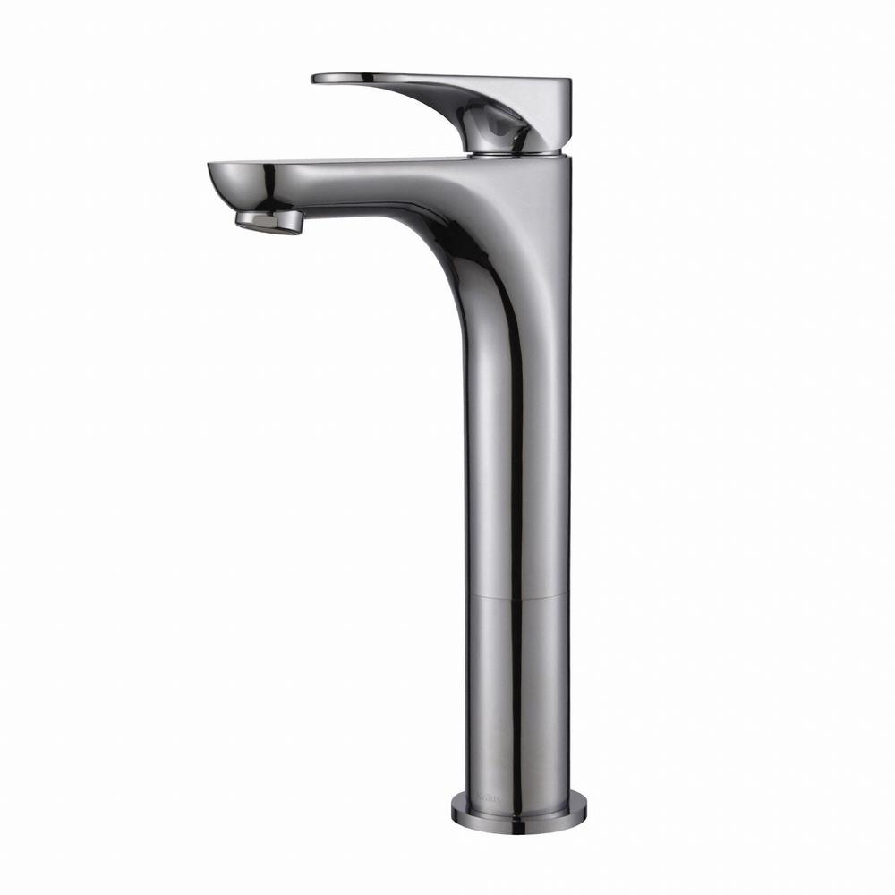 Aquila Single Hole Single-Handle Vessel Bathroom Faucet in Chrome