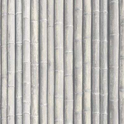 Shades of Grey Faux Bamboo Wallpaper