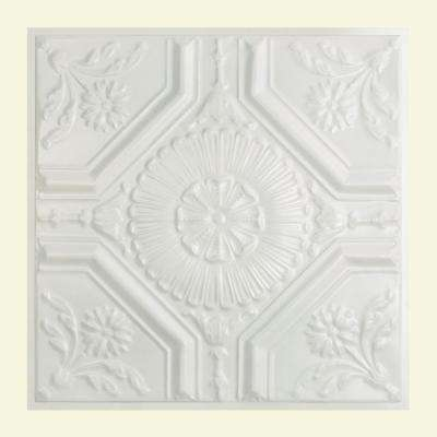 Rochester 2 ft. x 2 ft. Lay-in Tin Ceiling Tile in Matte White