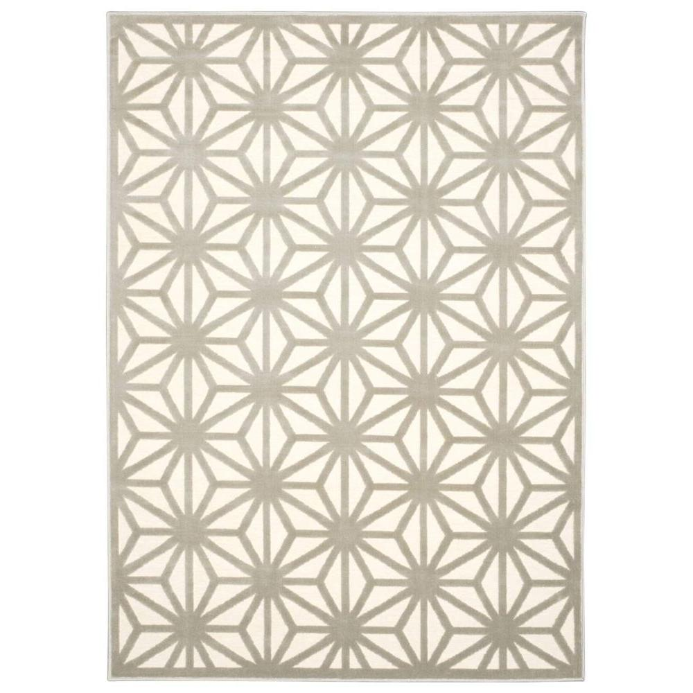 Ultima Ivory/Silver 7 ft. 9 in. x 10 ft. 10 in.