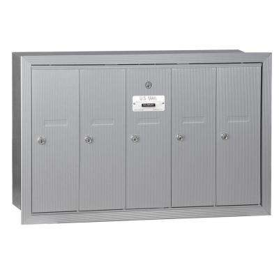 Aluminum Recessed-Mounted USPS Access Vertical Mailbox with 5 Doors