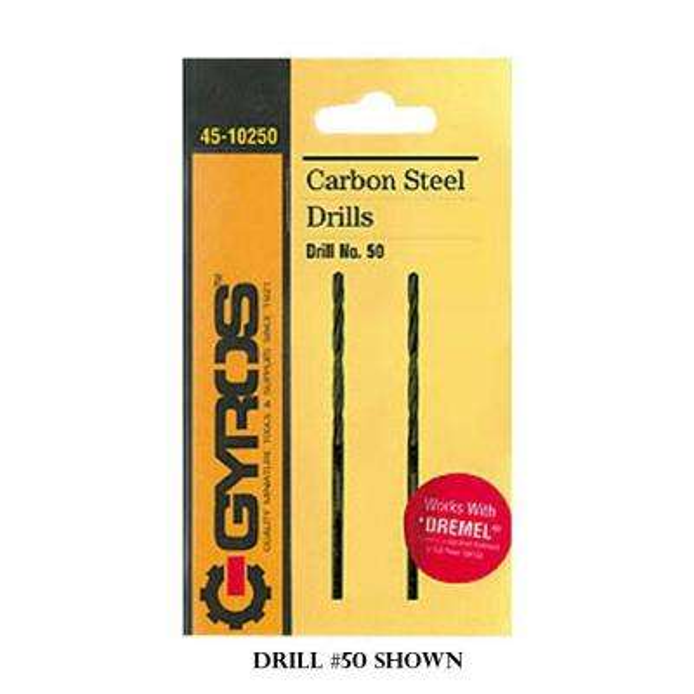 #72 Carbon Steel Wire Gauge Drill Bit (Set of 2)