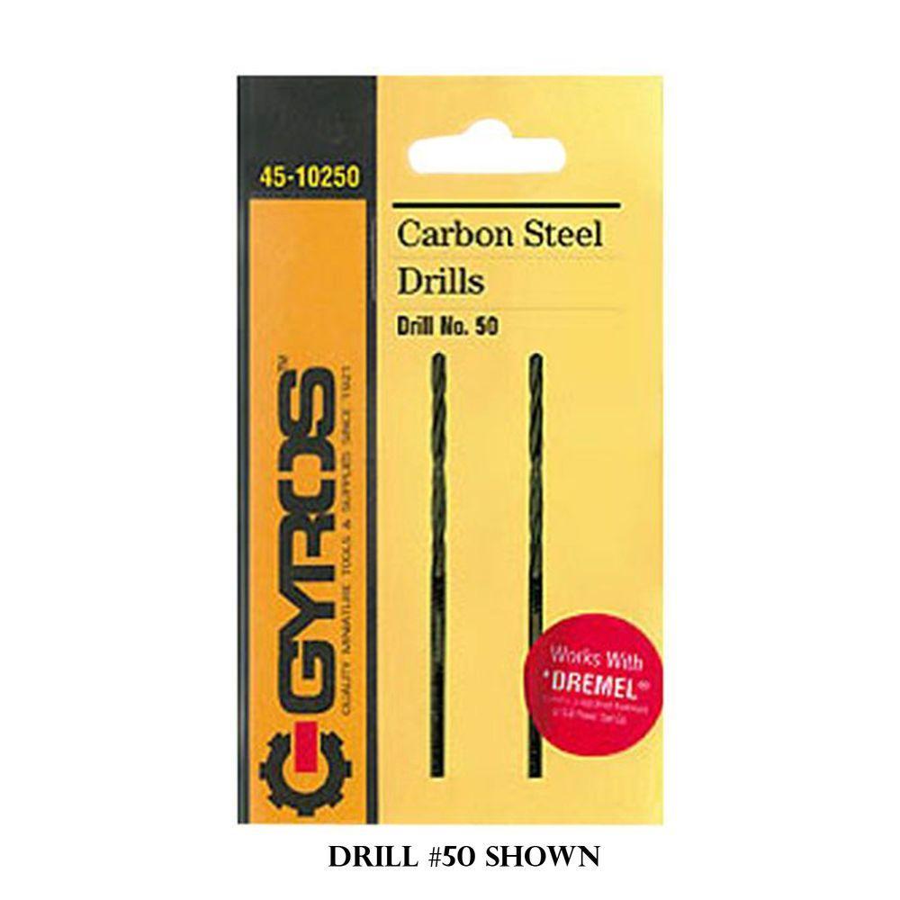 #60 Carbon Steel Wire Gauge Drill Bit (Set of 2)