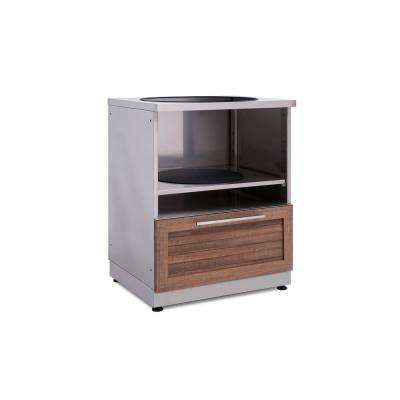 Natural Cherry Kamado 28 in. W x 36.5 in. H x 24 in. D Outdoor Kitchen Cabinet