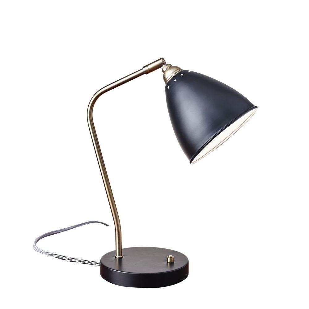 21 in. Black Chelsea Desk Lamp
