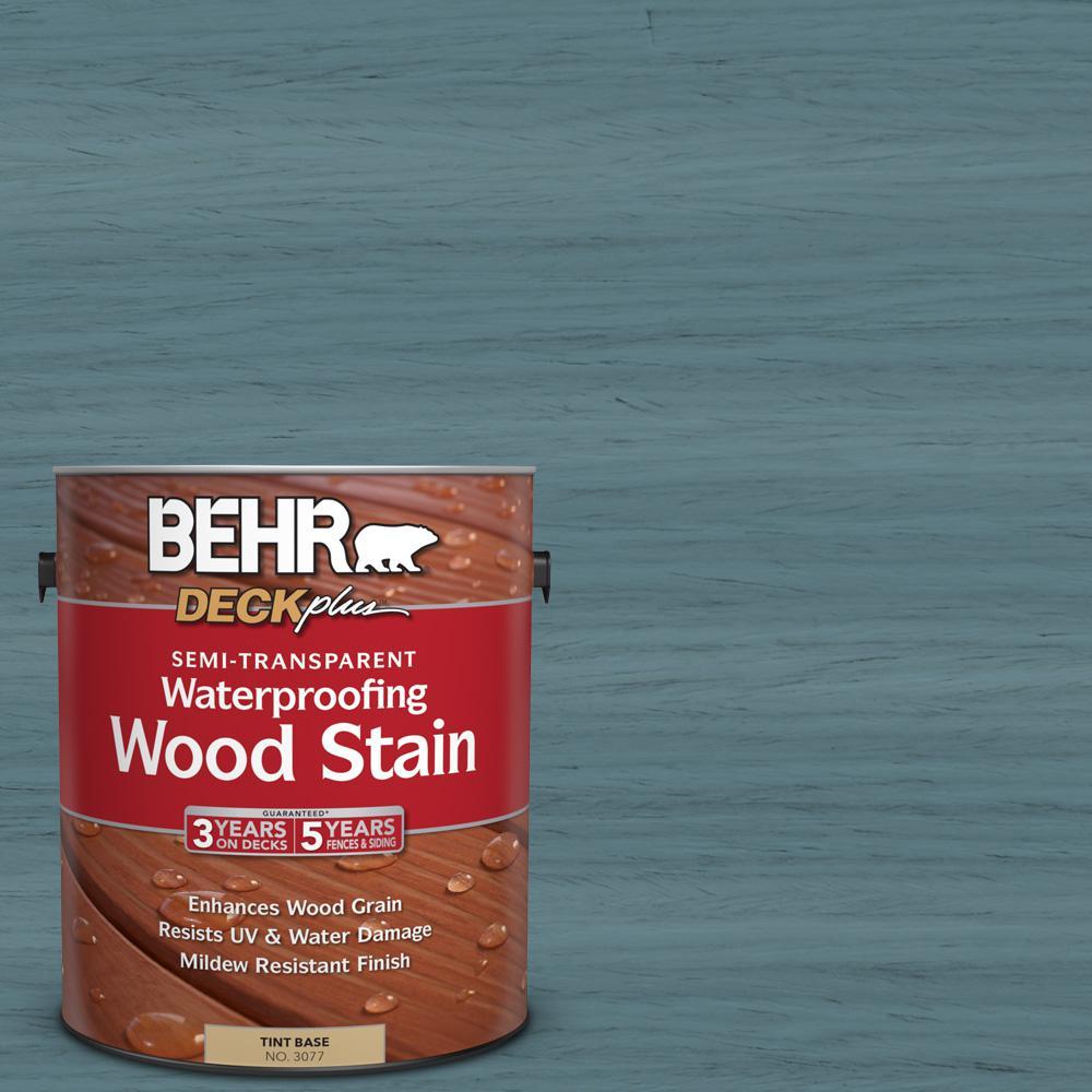 BEHR DECKplus 1 gal. #ST-113 Gettysburg Semi-Transparent Waterproofing Wood Stain