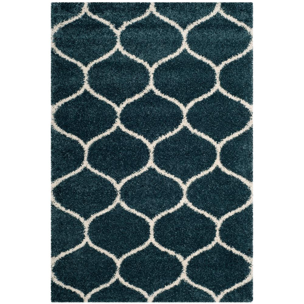 safavieh hudson shag slate blue/ivory 8 ft. x 10 ft. area rug