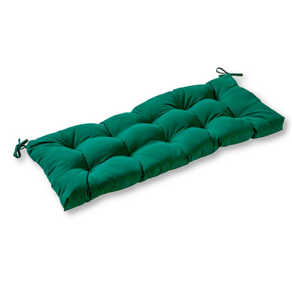 Solid Forest Green Sunbrella Rectangle Outdoor Bench Swing Cushion
