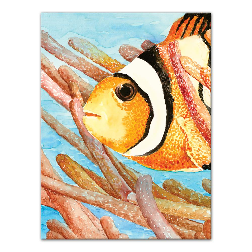 "40 in. x 30 in. ""Clownfish"" Printed Canvas Wall Art"