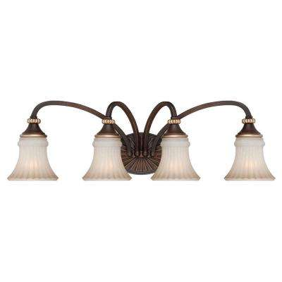 Reims 4-Light Berre Walnut Vanity Fixture