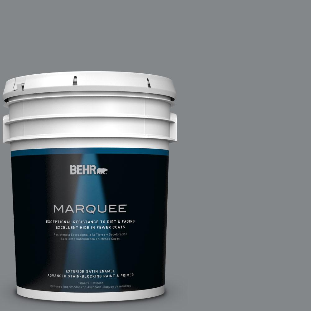 5-gal. #N500-5 Magnetic Gray Satin Enamel Exterior Paint