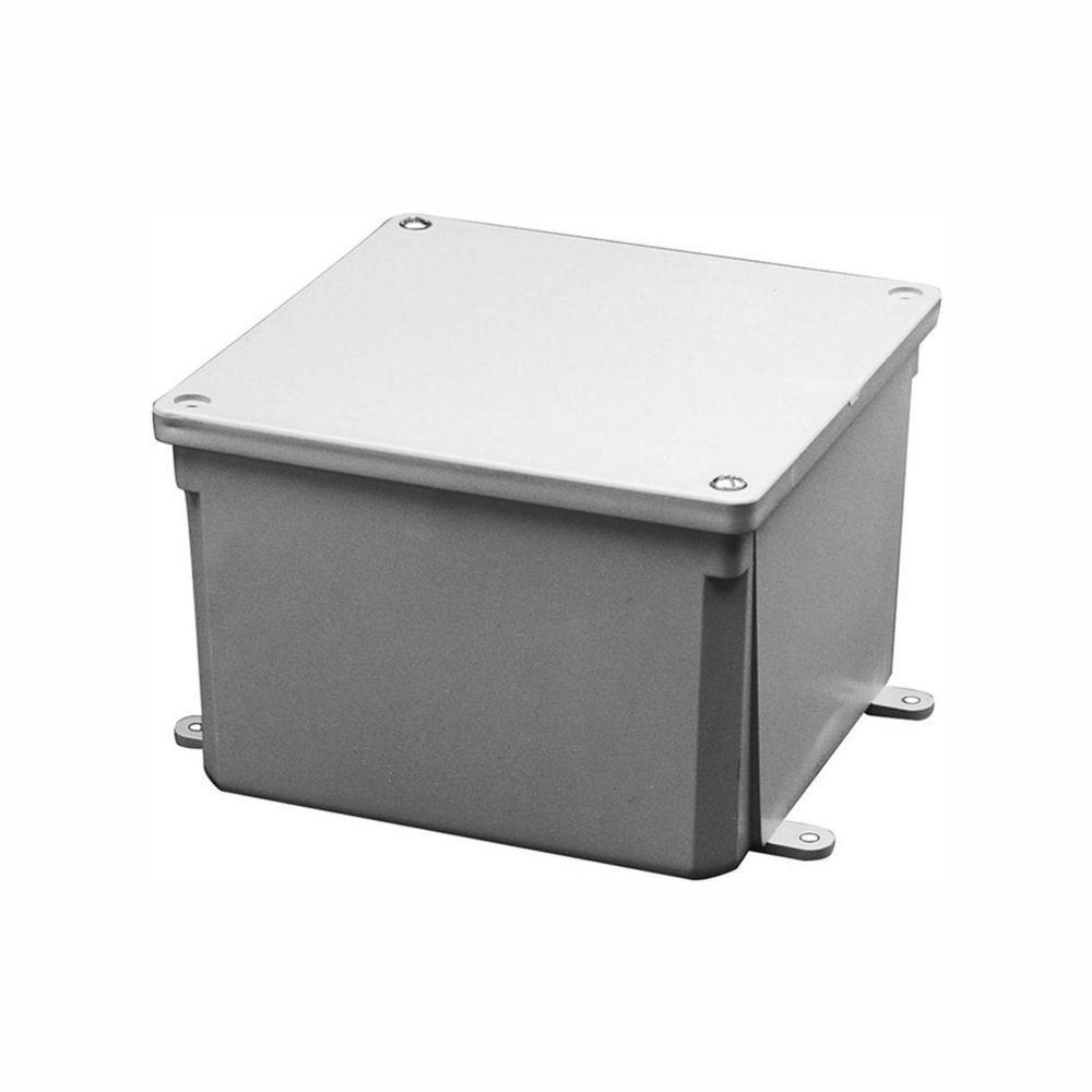 Metal Box Hinged Lid Electrical Nema Enclosure Steel Outdoor Junction Cover Gray