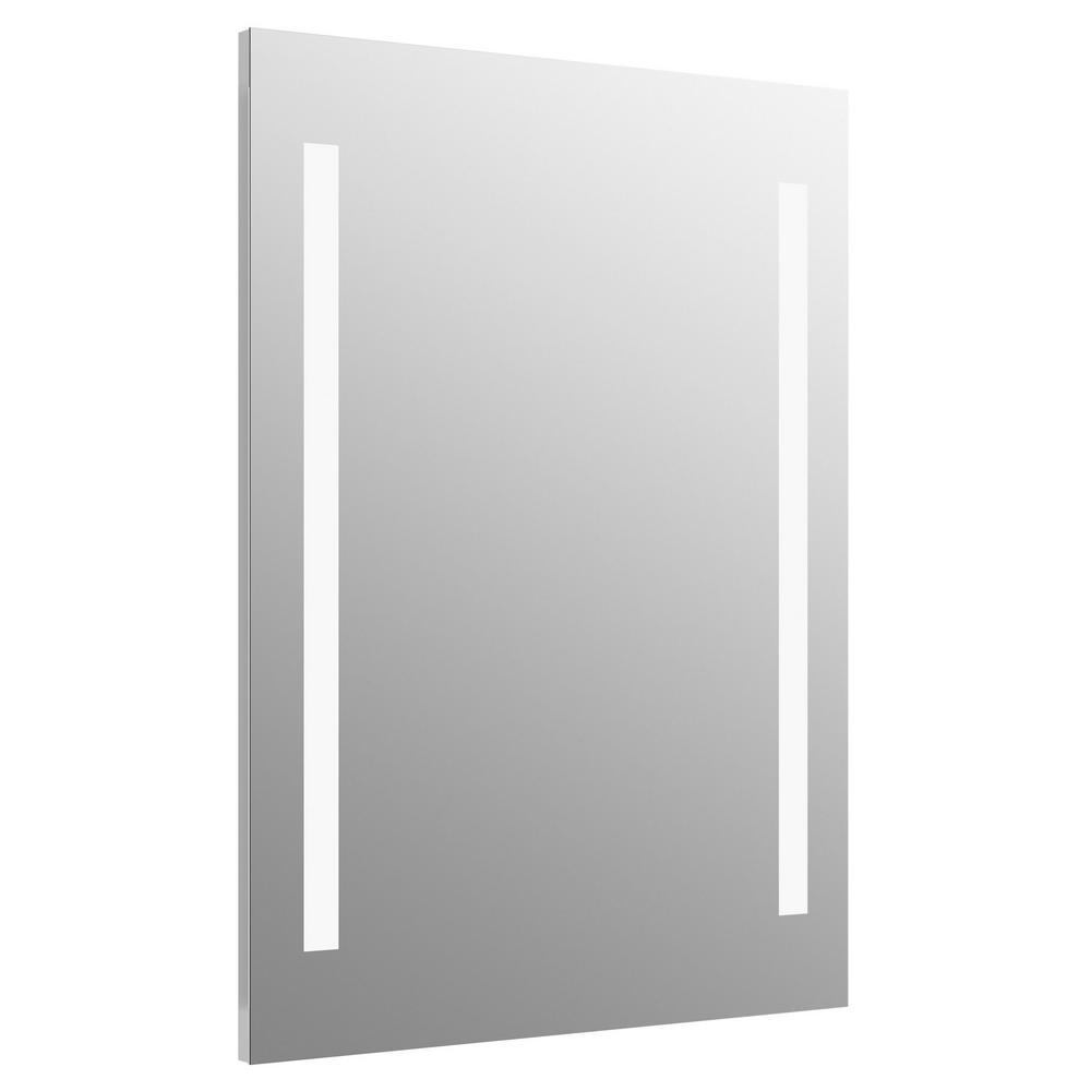 24 in. W x 33 in. H Frameless Rectangular LED Light Bathroom Vanity Mirror
