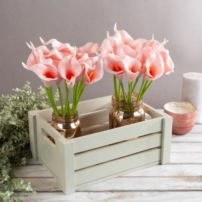 Pink Artificial Calla-Lily Flowers with Stems (24-Pack)