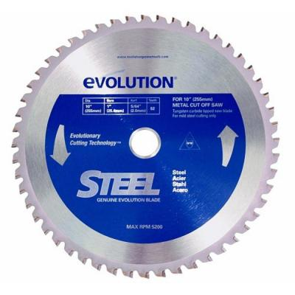 10 in. 52-Teeth Mild Steel Cutting Saw Blade