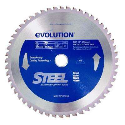 10 in. 52-Teeth Mild Steel Cutting Saw Blade