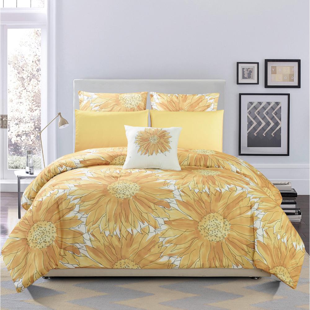 Duck River Adelphie 6 Piece Beeswax Full Queen Comforter Set