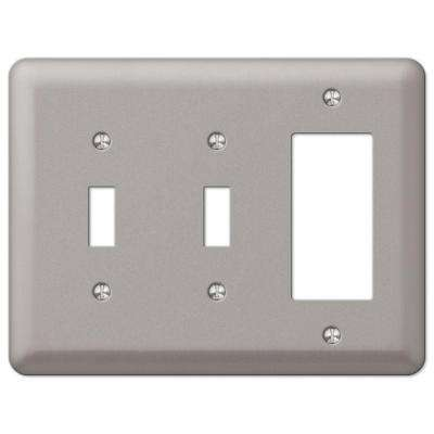 Devon 2 Toggle 1 Decorator Wall Plate - Brushed Nickel