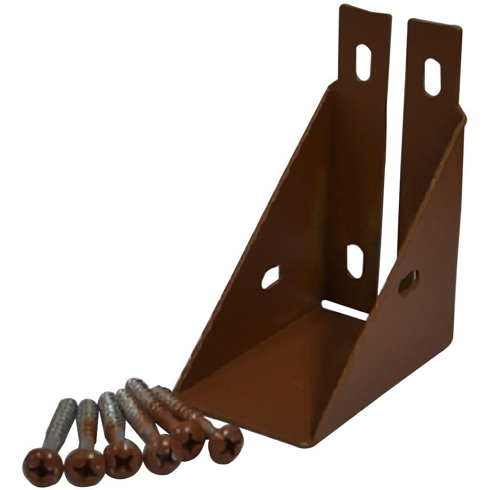 Veranda 1-1/2 in. x 3-3/4 in. Heartwood Composite Fence Rail Bracket with Screw