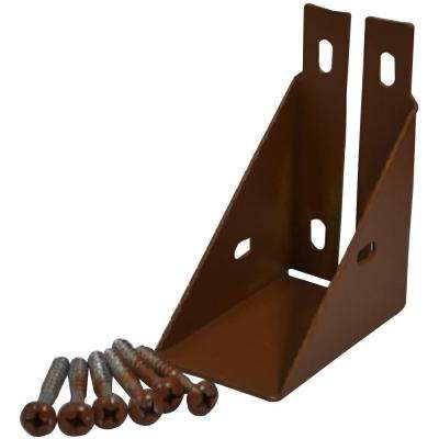 1-1/2 in. x 3-3/4 in. Heartwood Composite Fence Rail Bracket with Screw