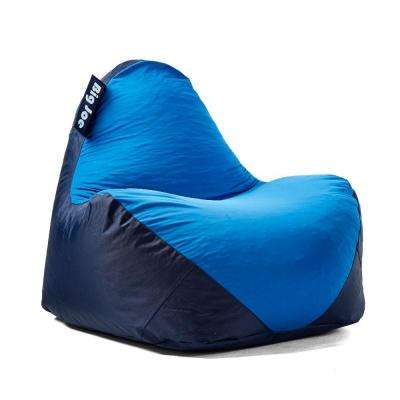 Spandex Navy/Blue Warp Chair And Smartmax Bean Bag