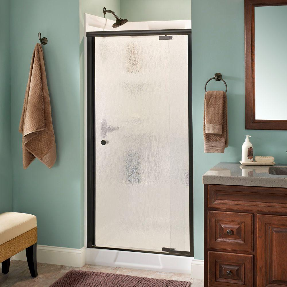 Delta Lyndall 36 in. x 66 in. Semi-Frameless Pivot Shower Door in ...